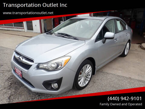 2012 Subaru Impreza for sale at Transportation Outlet Inc in Eastlake OH