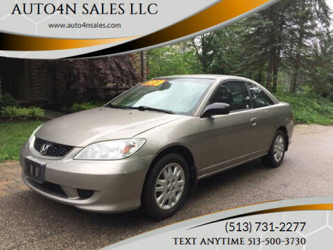 2004 Honda Civic for sale at AUTO4N SALES LLC in Cincinnati OH