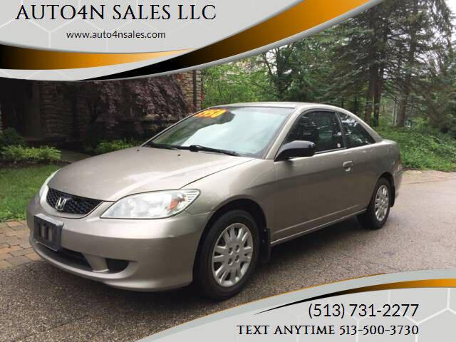 2004 Honda Civic for sale at AUTO4N SALES LLC in Cincinnati OH