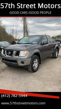 2008 Nissan Frontier for sale at 57th Street Motors in Pittsburgh PA