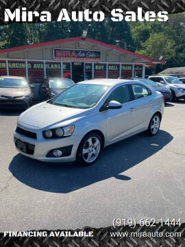 2015 Chevrolet Sonic for sale at Mira Auto Sales in Raleigh NC