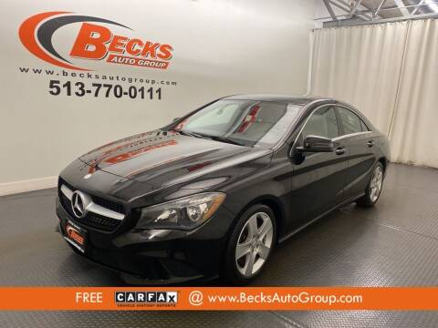 2015 Mercedes-Benz CLA for sale at Becks Auto Group in Mason OH