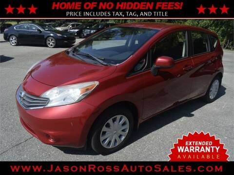 2014 Nissan Versa Note for sale at Jason Ross Auto Sales in Burlington NC