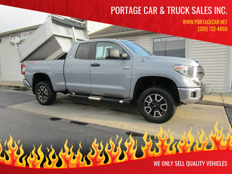 2018 Toyota Tundra for sale at Portage Car & Truck Sales Inc. in Akron OH