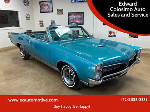 1967 Pontiac GTO for sale at Edward Colosimo Auto Sales and Service in Evans City PA