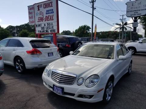 2007 Mercedes-Benz E-Class for sale at 1st Choice Auto Sales in Newport News VA