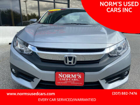 2016 Honda Civic for sale at NORM'S USED CARS INC in Wiscasset ME