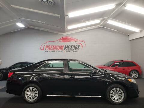 2014 Toyota Camry for sale at Premium Motors in Villa Park IL