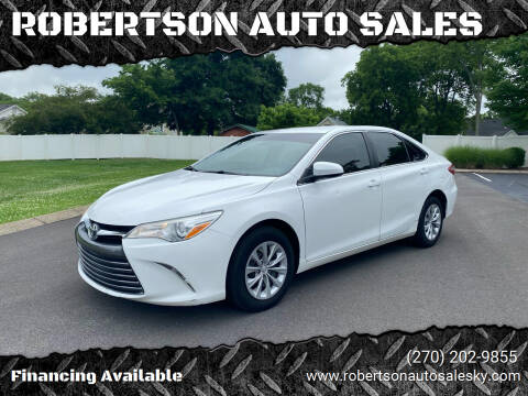 2016 Toyota Camry for sale at ROBERTSON AUTO SALES in Bowling Green KY