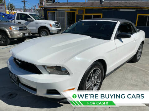 2012 Ford Mustang for sale at Good Vibes Auto Sales in North Hollywood CA