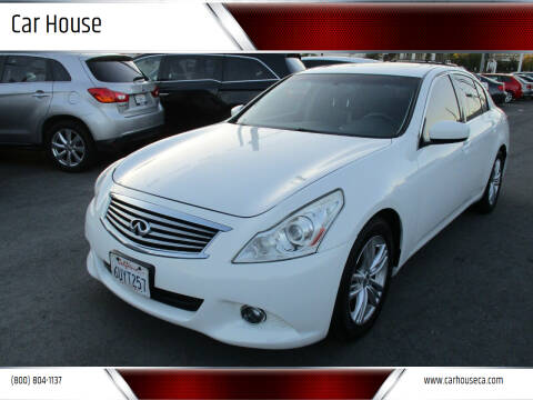2012 Infiniti G37 Sedan for sale at Car House in San Mateo CA