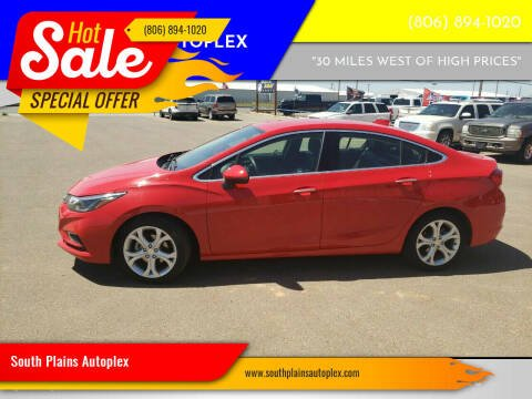 2018 Chevrolet Cruze for sale at South Plains Autoplex by RANDY BUCHANAN in Lubbock TX