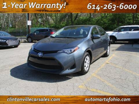 2017 Toyota Corolla for sale at Clintonville Car Sales - AutoMart of Ohio in Columbus OH