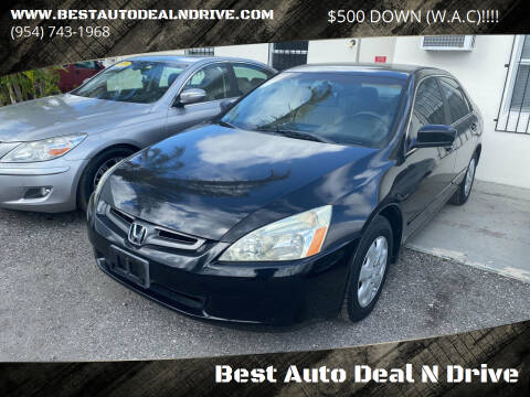 2003 Honda Accord for sale at Best Auto Deal N Drive in Hollywood FL
