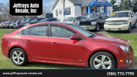 2012 Chevrolet Cruze for sale at Jeffreys Auto Resale, Inc in Clinton Township MI