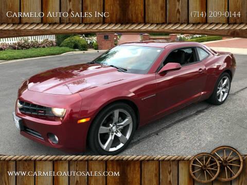 2011 Chevrolet Camaro for sale at Carmelo Auto Sales Inc in Orange CA