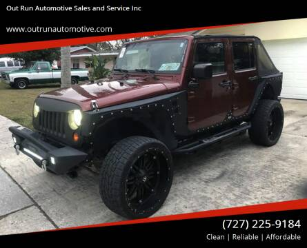 2007 Jeep Wrangler Unlimited for sale at Out Run Automotive Sales and Service Inc in Tampa FL