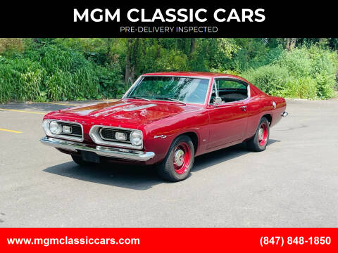 1967 Plymouth Barracuda for sale at MGM CLASSIC CARS-New Arrivals in Addison IL