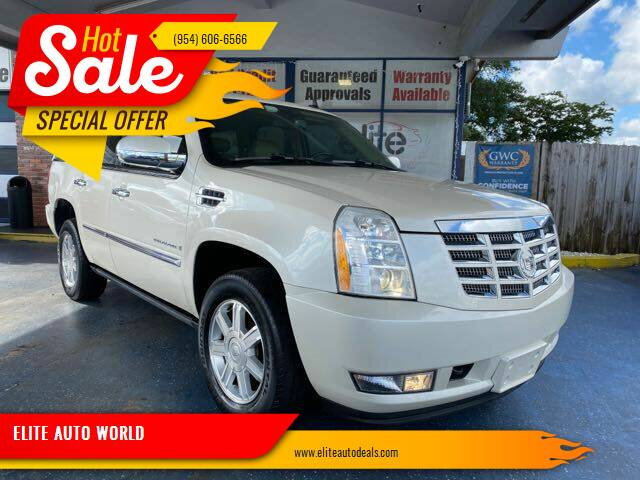 2009 Cadillac Escalade for sale at ELITE AUTO WORLD in Fort Lauderdale FL