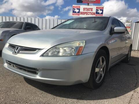 2005 Honda Accord for sale at Texas Country Auto Sales LLC in Austin TX