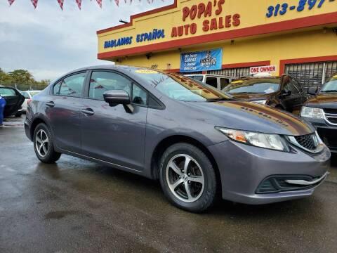 2015 Honda Civic for sale at Popas Auto Sales in Detroit MI