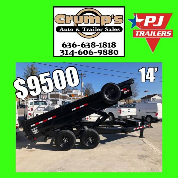 2021 PJ 14' Low Pro LOADED Dump  for sale at CRUMP'S AUTO & TRAILER SALES in Crystal City MO