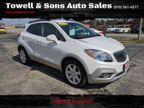 2015 Buick Encore for sale at Towell & Sons Auto Sales in Manila AR
