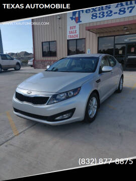 2013 Kia Optima for sale at TEXAS AUTOMOBILE in Houston TX