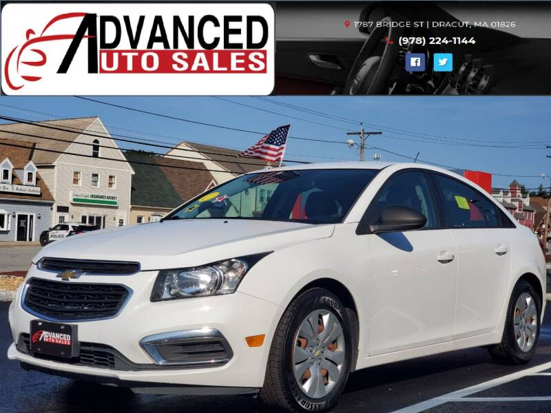 2015 Chevrolet Cruze for sale at Advanced Auto Sales in Dracut MA