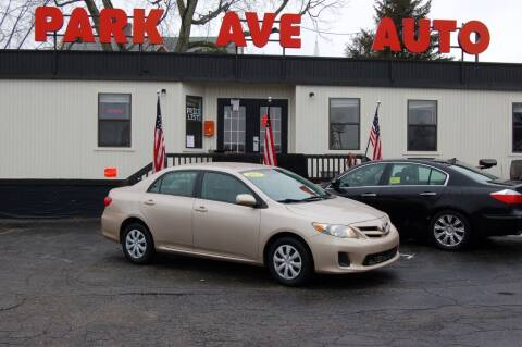 2011 Toyota Corolla for sale at Park Ave Auto Inc. in Worcester MA