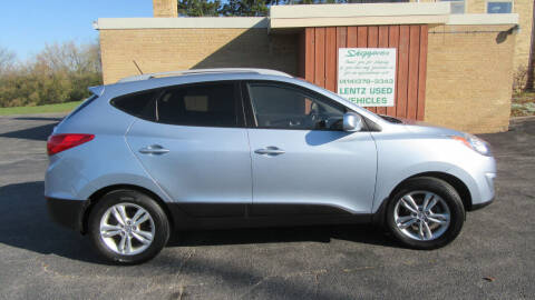 2011 Hyundai Tucson for sale at LENTZ USED VEHICLES INC in Waldo WI