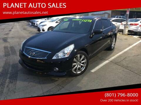 2011 Infiniti G37 Sedan for sale at PLANET AUTO SALES in Lindon UT