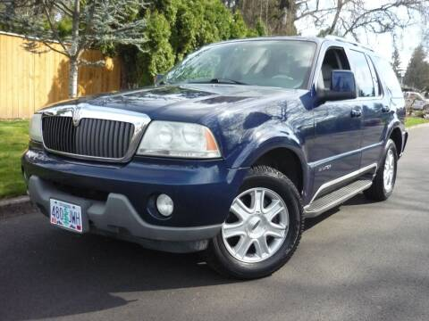 2004 Lincoln Aviator for sale at Redline Auto Sales in Vancouver WA