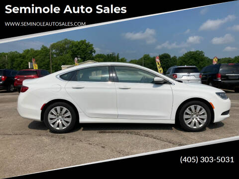 2016 Chrysler 200 for sale at Seminole Auto Sales in Seminole OK