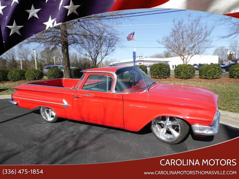 1960 Chevrolet El Camino for sale at CAROLINA MOTORS - Carolina Classics & More-Thomasville in Thomasville NC