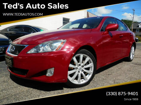 2008 Lexus IS 250 for sale at Ted's Auto Sales in Louisville OH