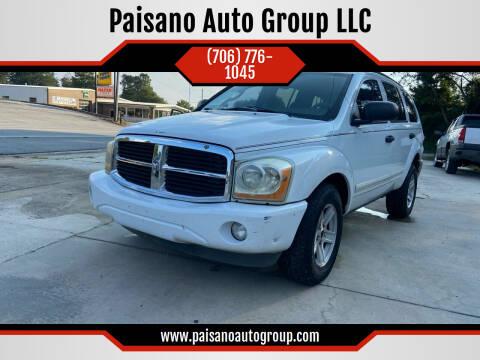 2004 Dodge Durango for sale at Paisano Auto Group LLC in Cornelia GA
