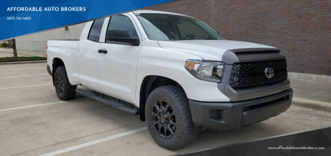 2020 Toyota Tundra for sale at AFFORDABLE AUTO BROKERS in Keller TX
