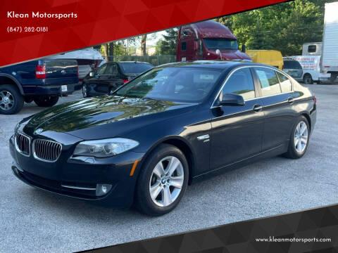 2012 BMW 5 Series for sale at Klean Motorsports in Skokie IL