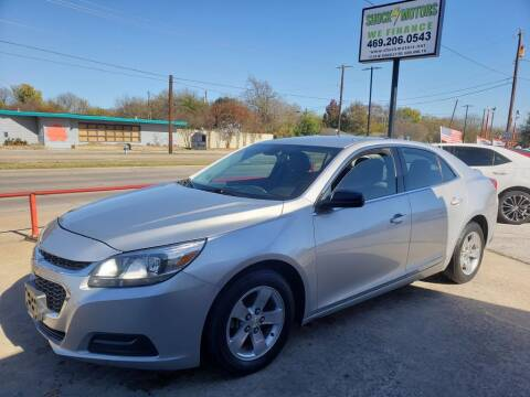 2015 Chevrolet Malibu for sale at Shock Motors in Garland TX