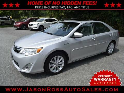 2014 Toyota Camry Hybrid for sale at Jason Ross Auto Sales in Burlington NC