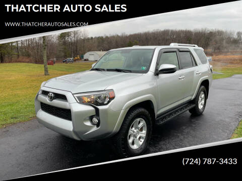 2016 Toyota 4Runner for sale at THATCHER AUTO SALES in Export PA