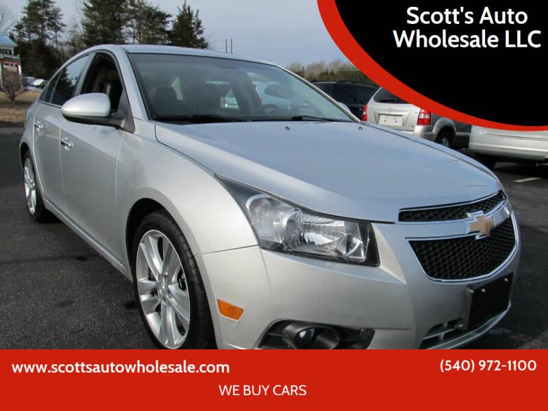 2012 Chevrolet Cruze for sale at Scott's Auto Wholesale LLC in Locust Grove VA