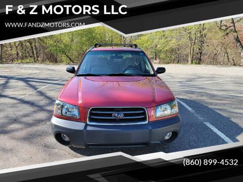 2003 Subaru Forester for sale at F & Z MOTORS LLC in Waterbury CT