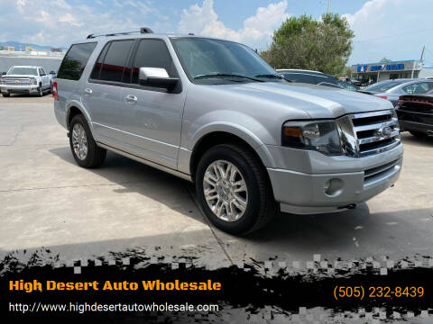 2011 Ford Expedition for sale at High Desert Auto Wholesale in Albuquerque NM