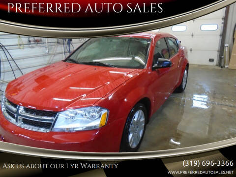 2013 Dodge Avenger for sale at PREFERRED AUTO SALES in Lockridge IA
