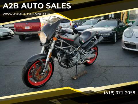 2002 Ducati MONSTER S4 for sale at A2B AUTO SALES in Chula Vista CA