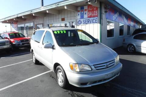 2002 Toyota Sienna for sale at 777 Auto Sales and Service in Tacoma WA