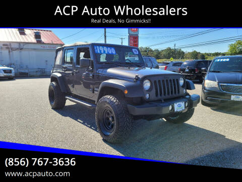 2014 Jeep Wrangler Unlimited for sale at ACP Auto Wholesalers in Berlin NJ
