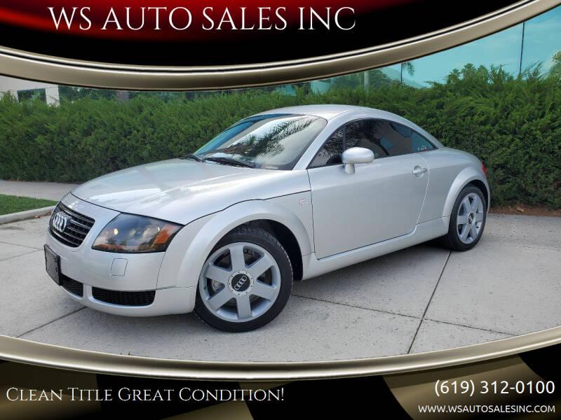 2000 Audi TT for sale at WS AUTO SALES INC in El Cajon CA